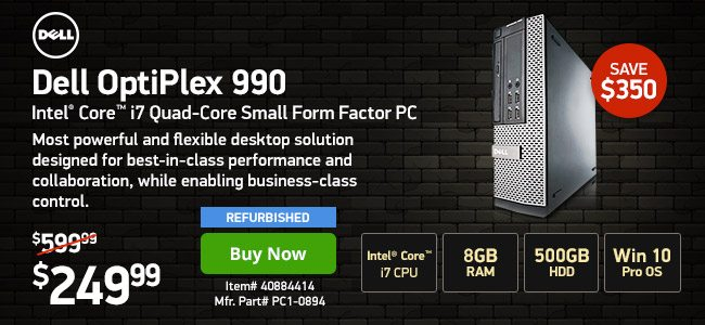 Dell Optiplex 990 Small Form Factor PC | 40884414 | Shop Now