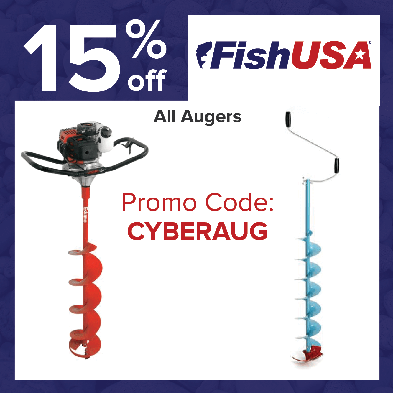 Take 15% off Ice Augers