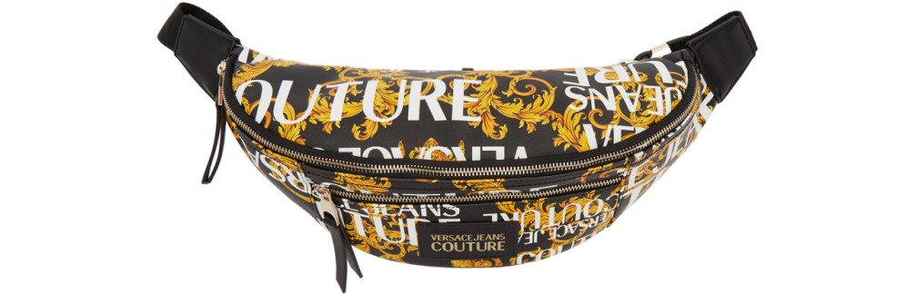 Versace Jeans Couture - Yellow & Black Baroque Print Belt Bag