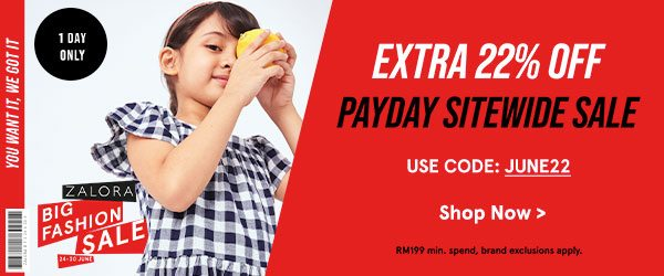 Payday Sitewide: Extra 22% Off!