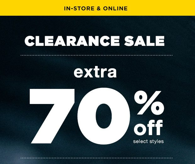 EXTRA 70% OFF SALE - Shop Now