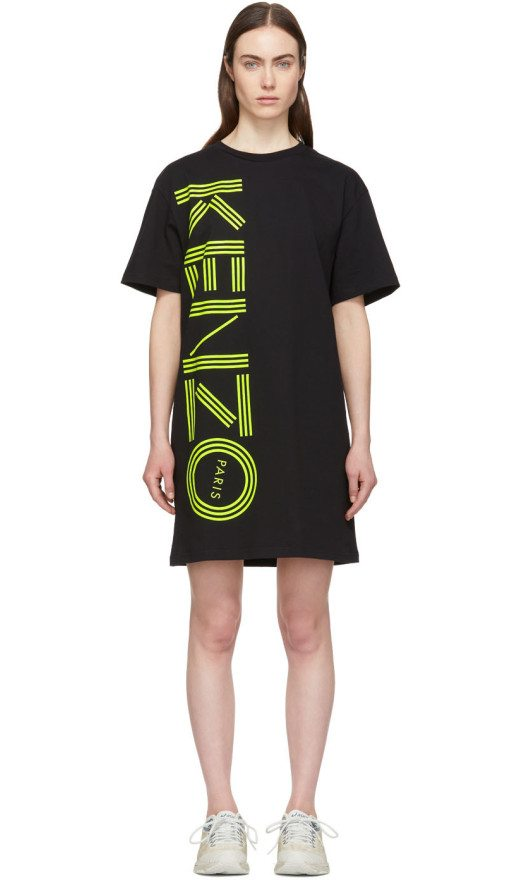 Kenzo - Black Logo T Shirt Dress