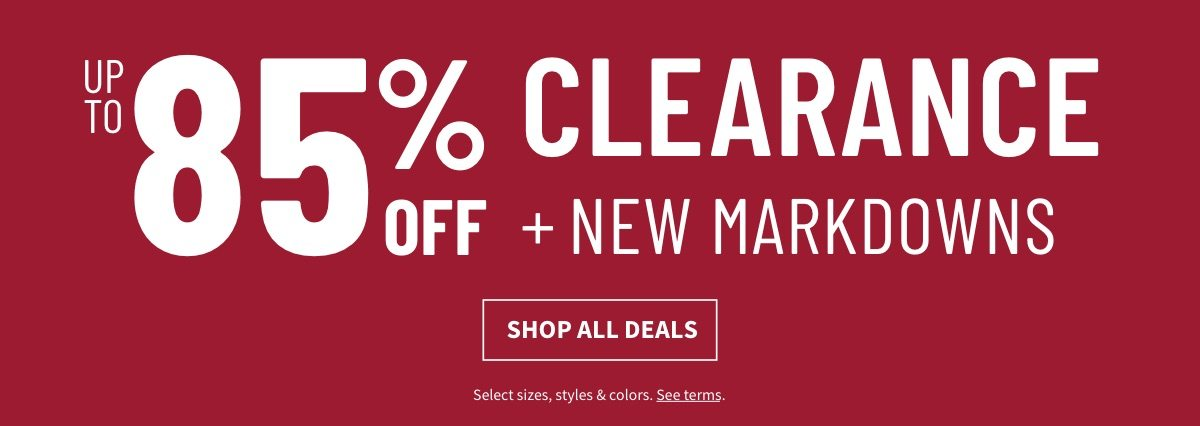 Up to 85% Off Clearance - Shop All Deals