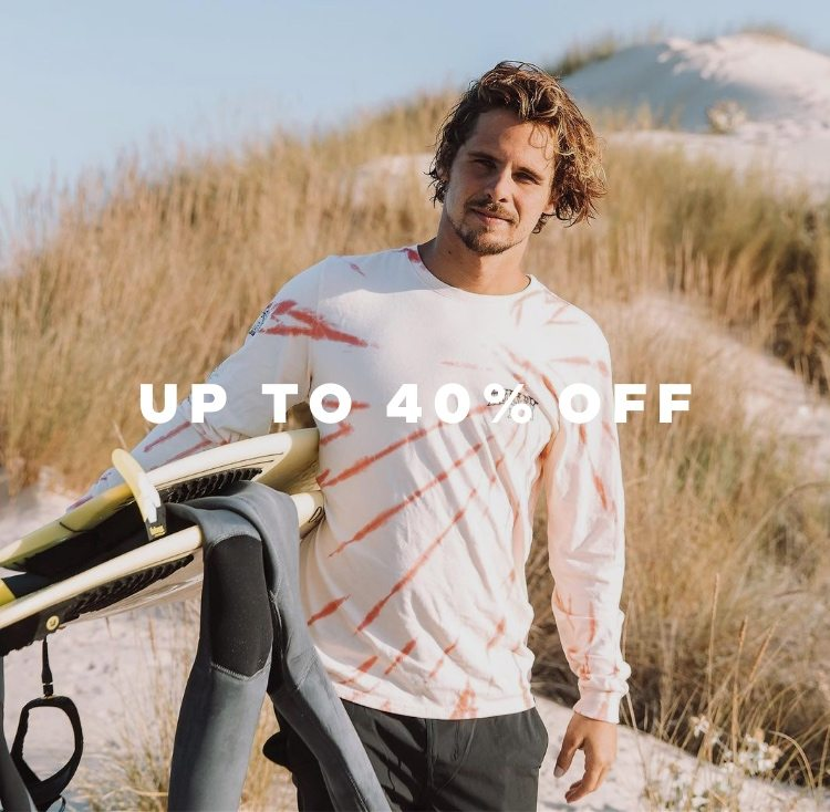 UP TO 40% OFF HURLEY