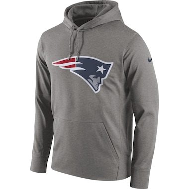 Nike New England Patriots Gray Circuit Logo Essential Performance Pullover Hoodie