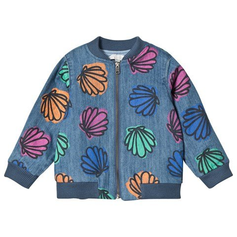162ee1b131c Stella McCartney Kids Blue Sequin Shell and Sequin Bomber Abbot Jacket