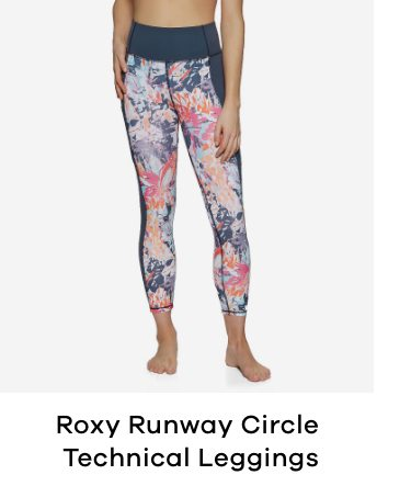 Roxy Runway Circle Technical Womens Active Leggings
