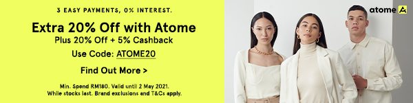 Extra 20% Off with Atome