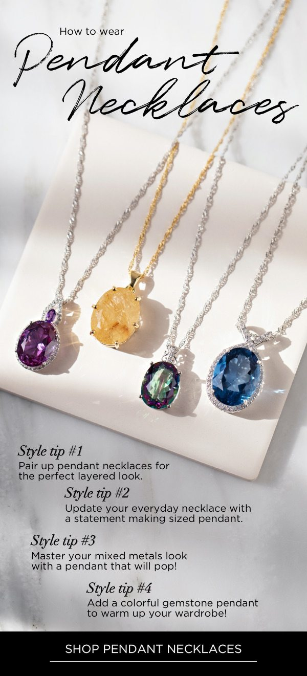 Simple style tips for wearing pendants