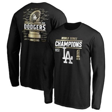 Los Angeles Dodgers Fanatics Branded 2020 World Series Champions Signature Roster Long Sleeve T-Shirt - Black
