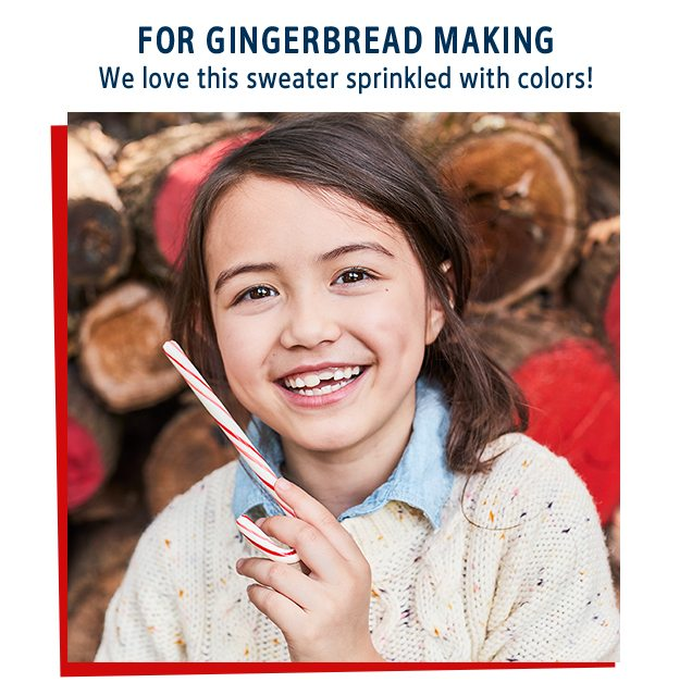 FOR GINGERBREAD MAKING | We love this sweater sprinkled with colors!