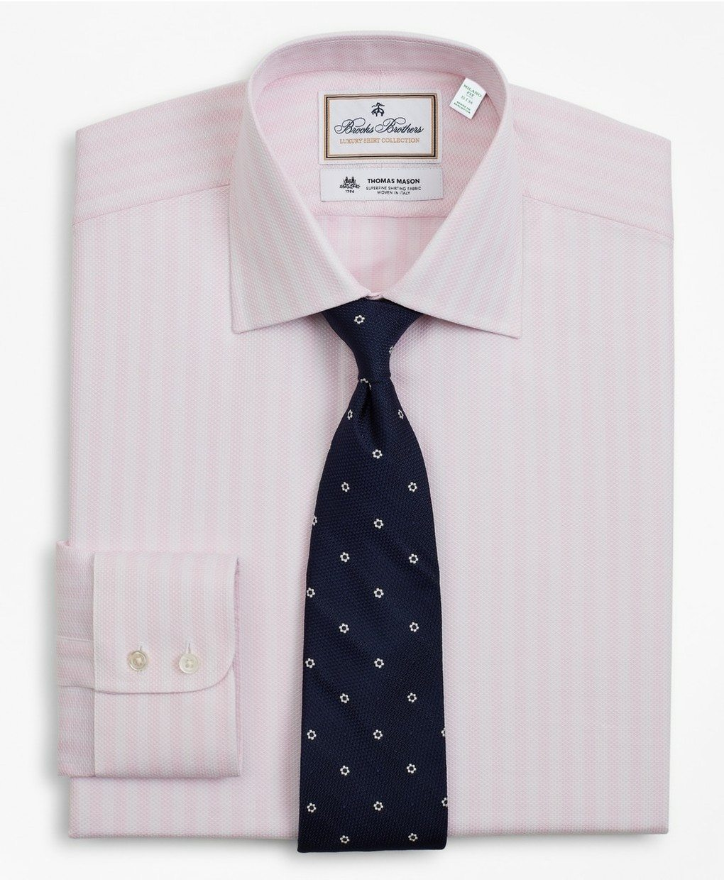 Luxury Collection Milano Slim-Fit Dress Shirt, Franklin Spread Collar Stripe