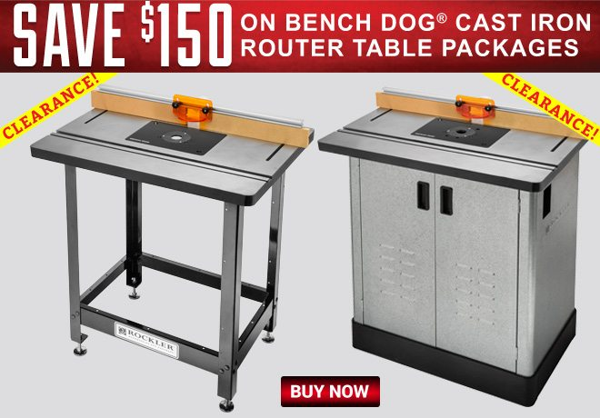 Save $150 on Bench Dog Cast Iron Router Table Packages