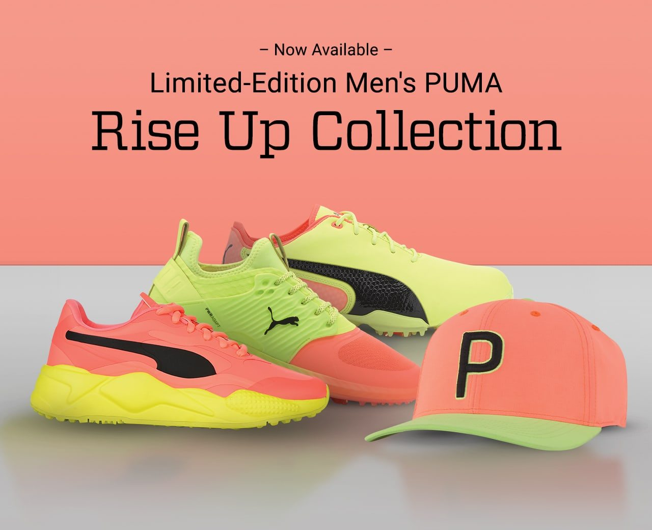 Now available. Limited-edition men's puma rise up collection.