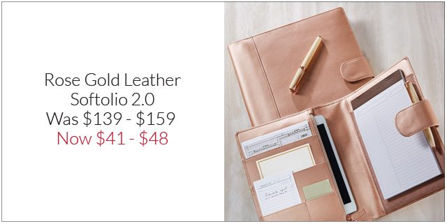 Shop Rose Gold Leather Softolio