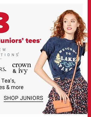 Daily Deals - $9 women's & juniors tees. Shop Juniors.