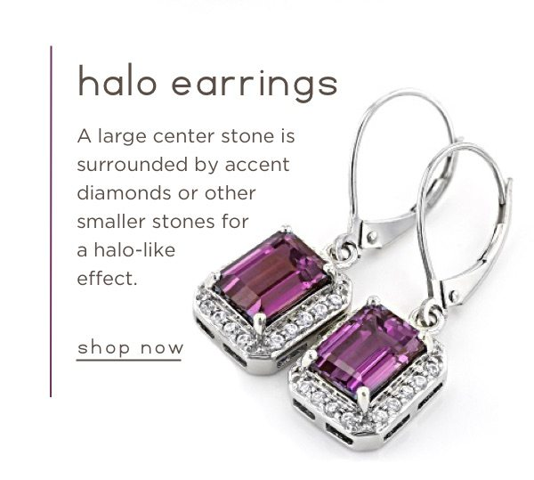 Shop halo earrings