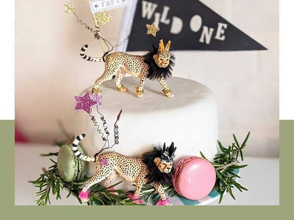 Personalised Cheetah Party Animal Cake Toppers