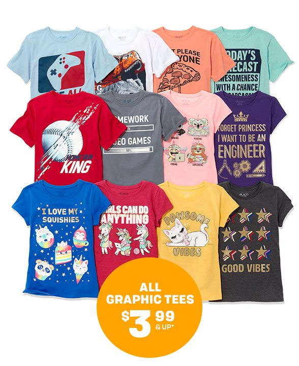 All Graphic Tees $3.99 & Under