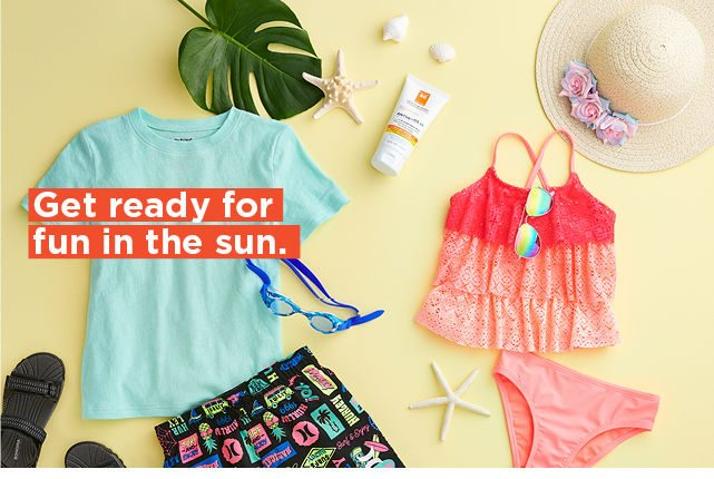 get ready for sun in the sun. shop now.