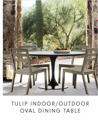 TULIP INDOOR/OUTDOOR OVAL DINING TABLE