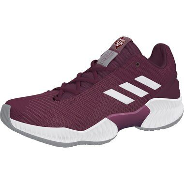 Texas A&M Aggies adidas Pro Bounce Low Training Sneaker - Maroon/White