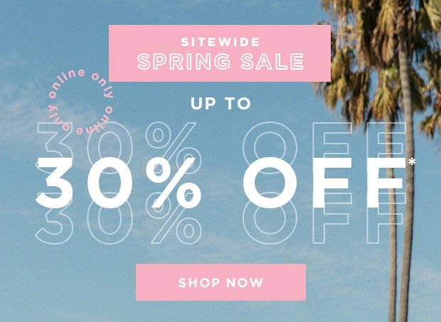 Save 30% Off Sitewide