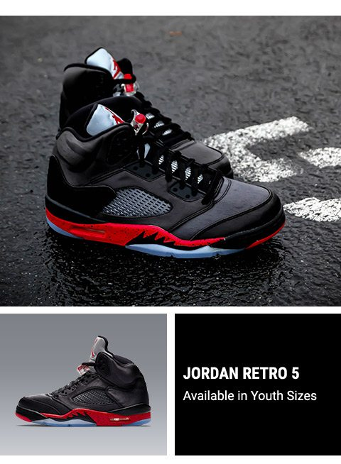923dab36970 Jordan Retro 5 'Black/University Red' – Available Tomorrow ...