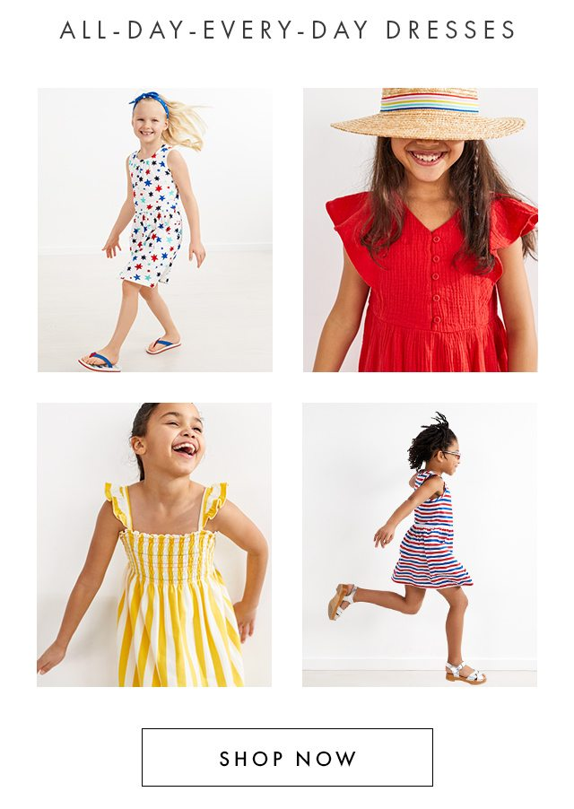 All-day-every-day dresses, shop now!