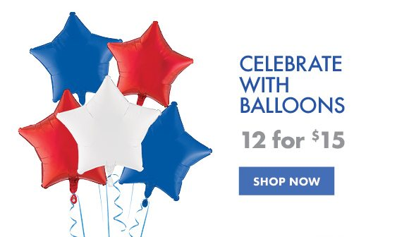 Celebrate with Balloons | 12 for $15 | SHOP NOW