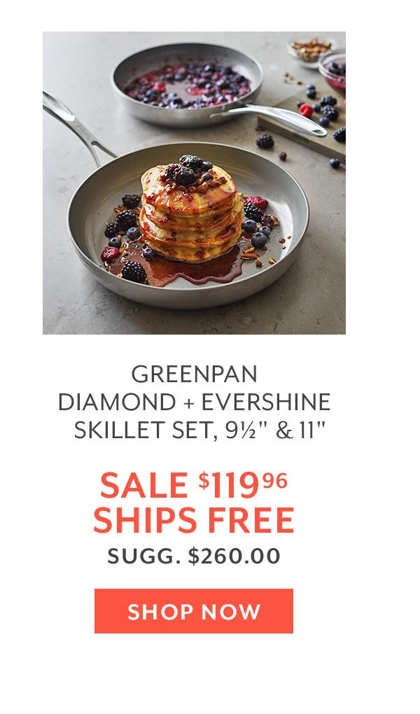 Greenpan Diamond + Evershine Skillet Set