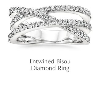 Entwined Bisou Diamond Ring