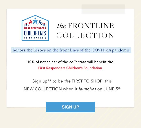 Sign up to be the first to shop