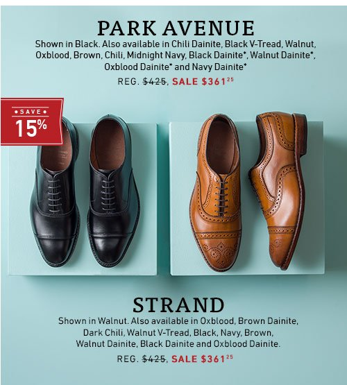 Save 15% on Park Ave and Strand.