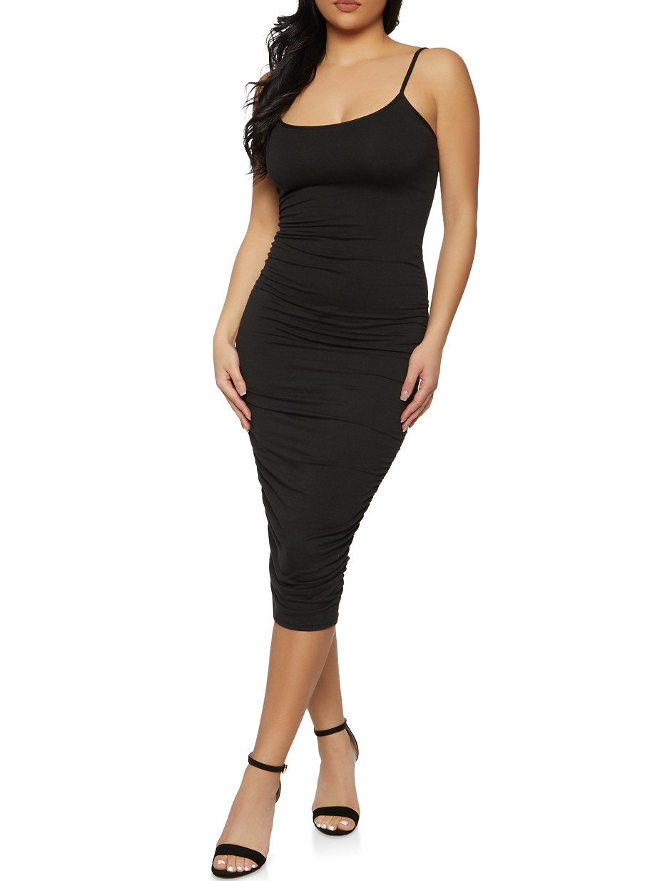 Ruched Side Cami Bodycon Dress