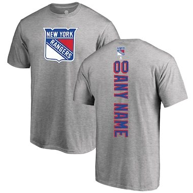 Fanatics Branded New York Rangers Heather Gray Personalized Playmaker T-Shirt