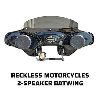 Reckless Motorcycles 2-Speaker Batwing