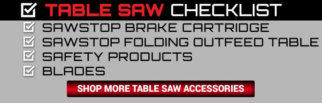 Shop Table Saw Accessories