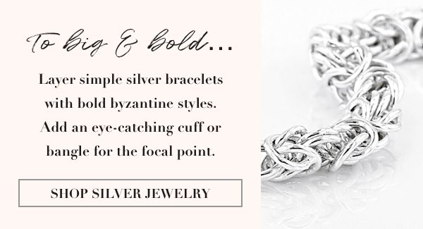 Shop all metal silver jewelry