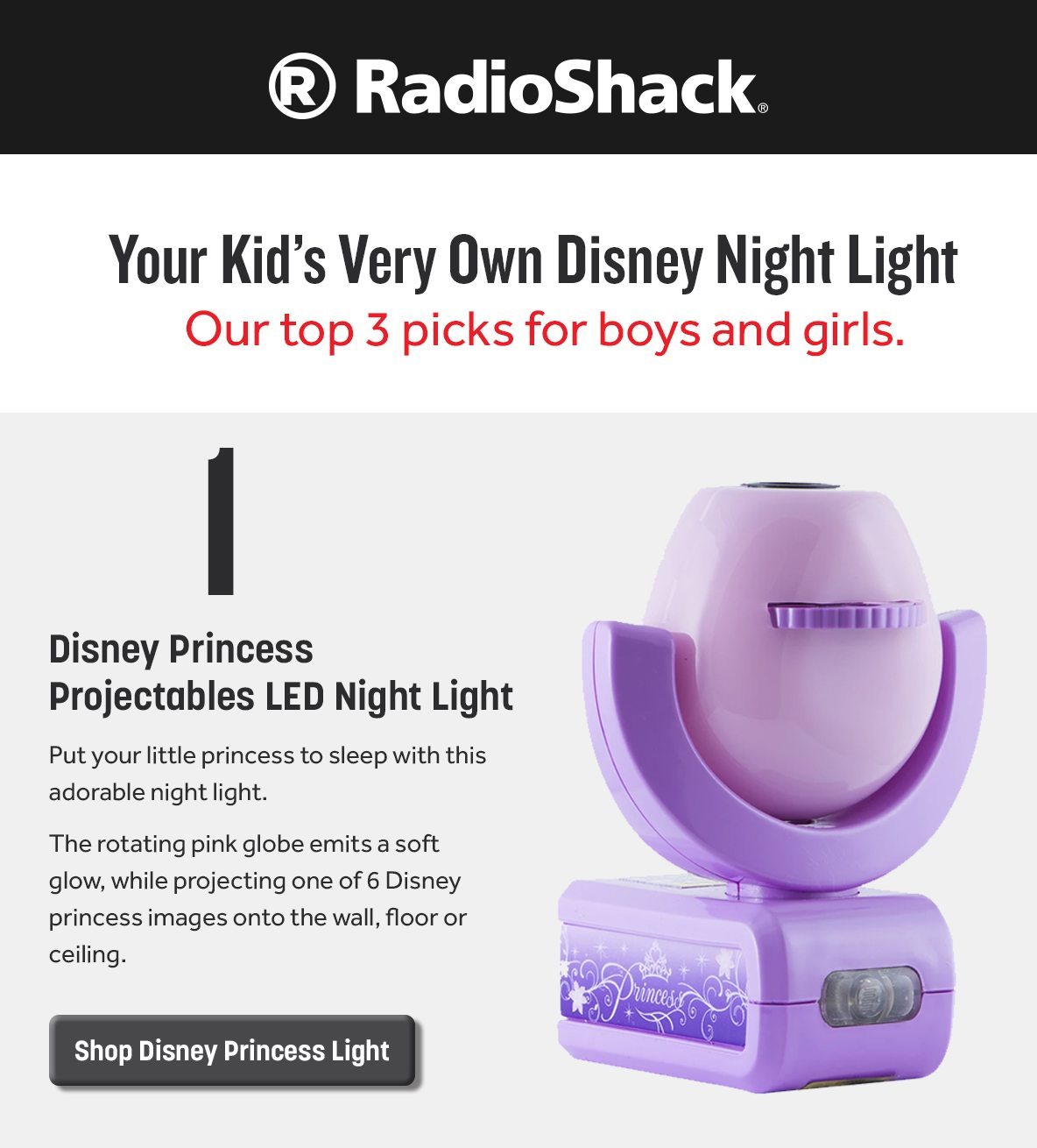 Disney Princess Projectables LED Night Light