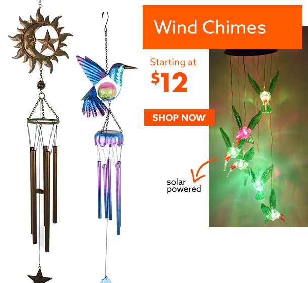 Wind Chimes starting at $12