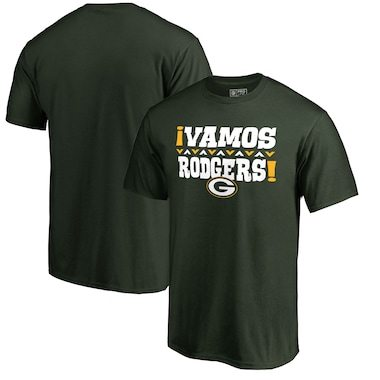 Aaron Rodgers Green Bay Packers NFL Pro Line by Fanatics Branded Vamos T-Shirt - Green