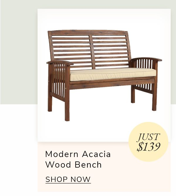 Modern Acacia Wood Outdoor Loveseat | SHOP NOW