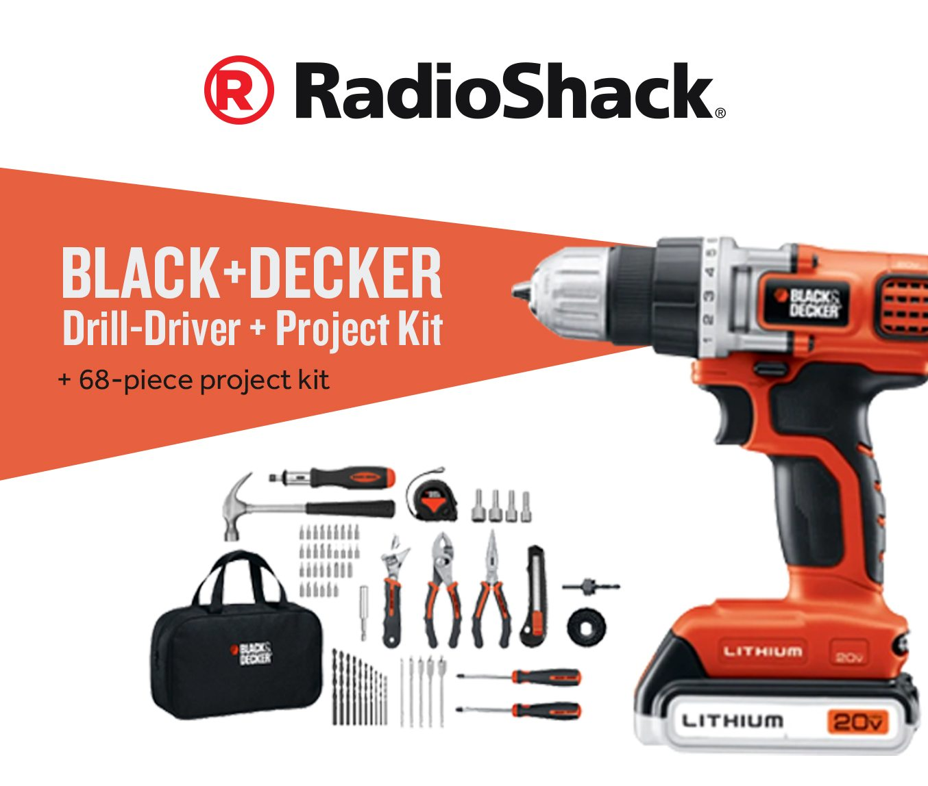 BLACK+DECKER 20V MAX Lithium Drill-Driver and 68-Piece Project Kit