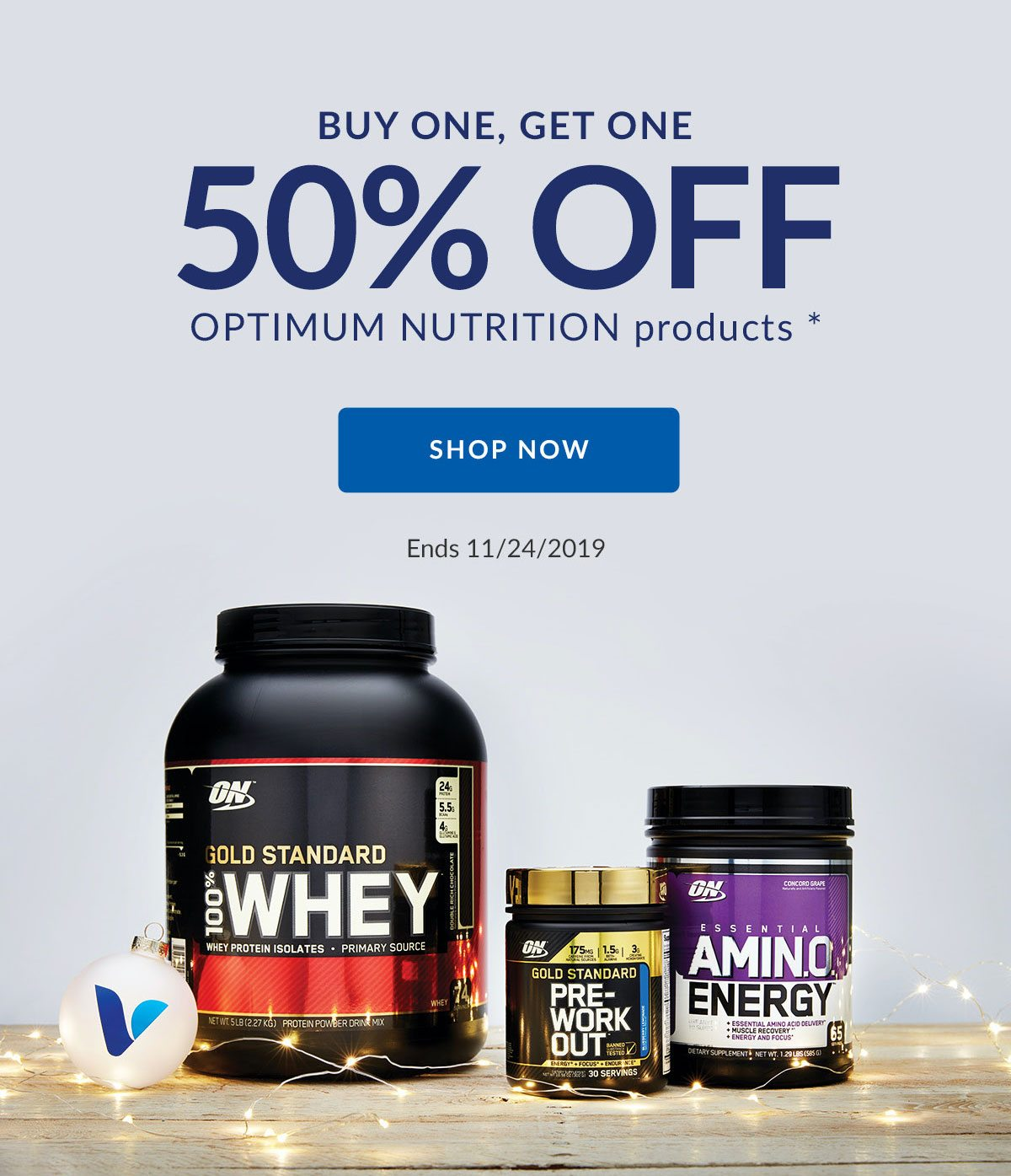BUY ONE, GET ONE 50% OFF OPTIMUM NUTRITION products * | SHOP NOW | Ends 11/24/2019