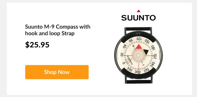 Suunto M-9 Compass with hook and loop Strap