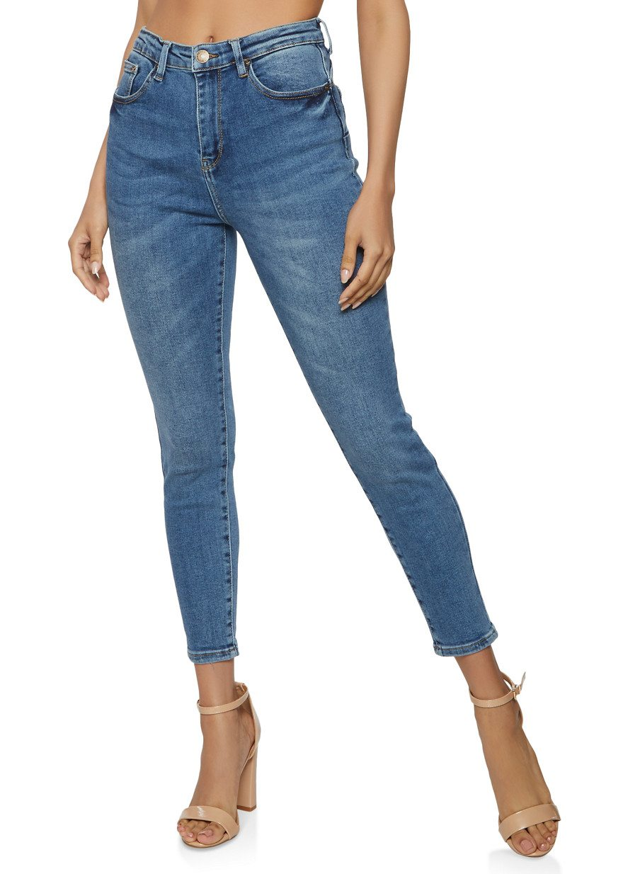 WAX Solid Push Up Skinny Jeans