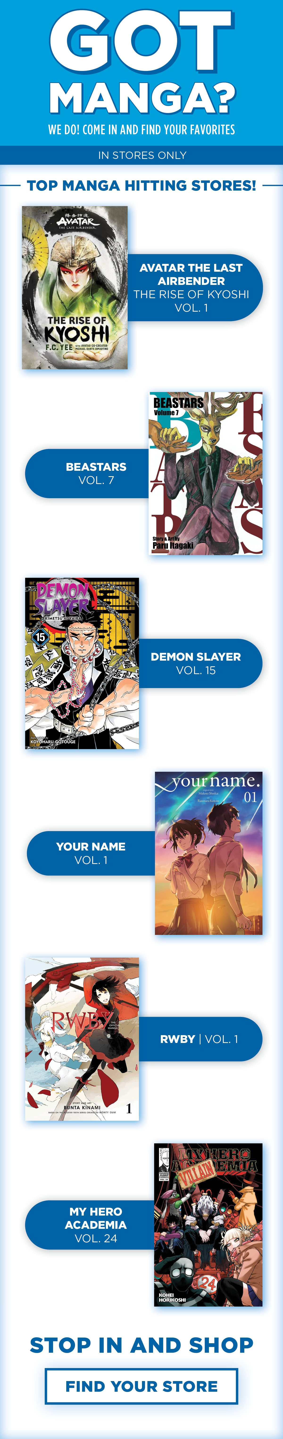 Shop new Manga titles in-stores now!