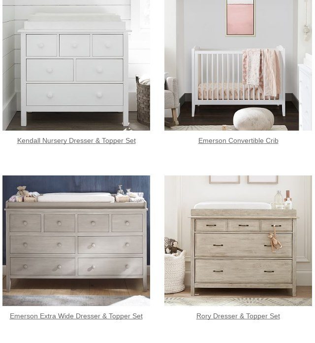 Emerson Nursery Dresser Topper Set Is