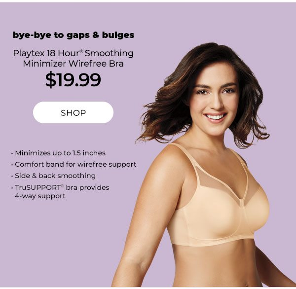 Playtex 18 Hour Smoothing Minimizer Wirefree Bra $19.99 - Turn on your images
